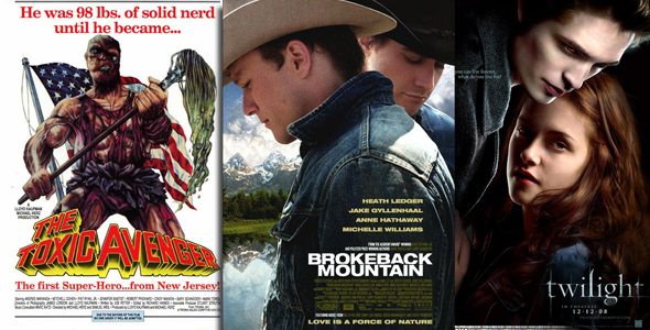 Toxic Avenger / Brokeback Mountain / Twilight