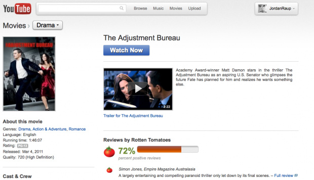 Watch stream 39 the adjustment bureau 39 for free on youtube - The adjustment bureau streaming ...