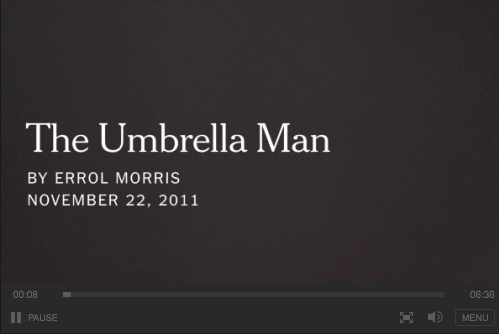The Umbrella Man - Video Library - The New York Times