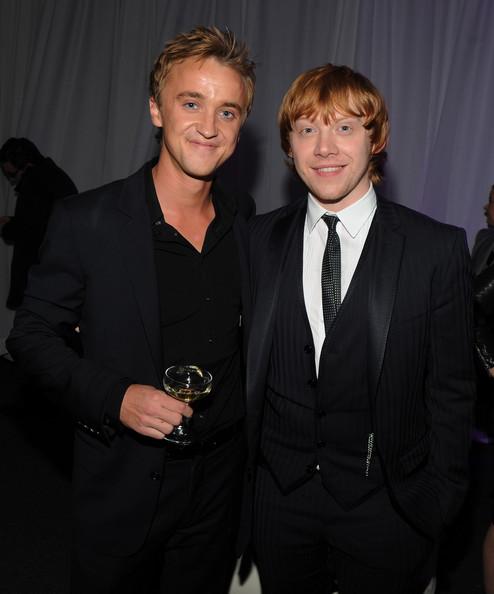 'Harry Potter' Stars Rupert Grint and Tom Felton Line Up ...