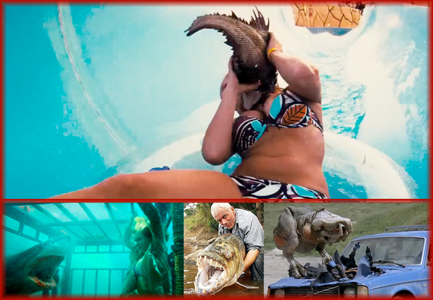 NS Piranha3DD ... make their way into a bikini bod stuffed waterpark. Like you do.