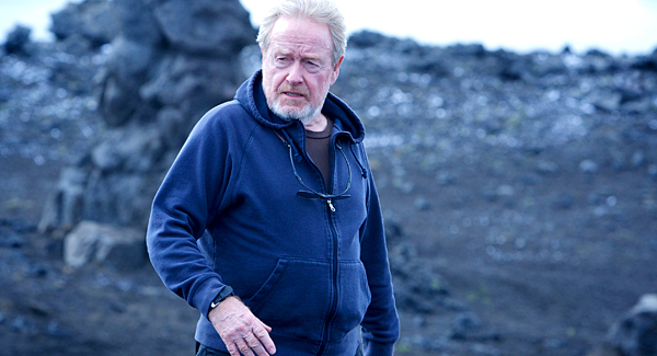 DF-09748R - Ridley Scott on the set of Prometheus.
