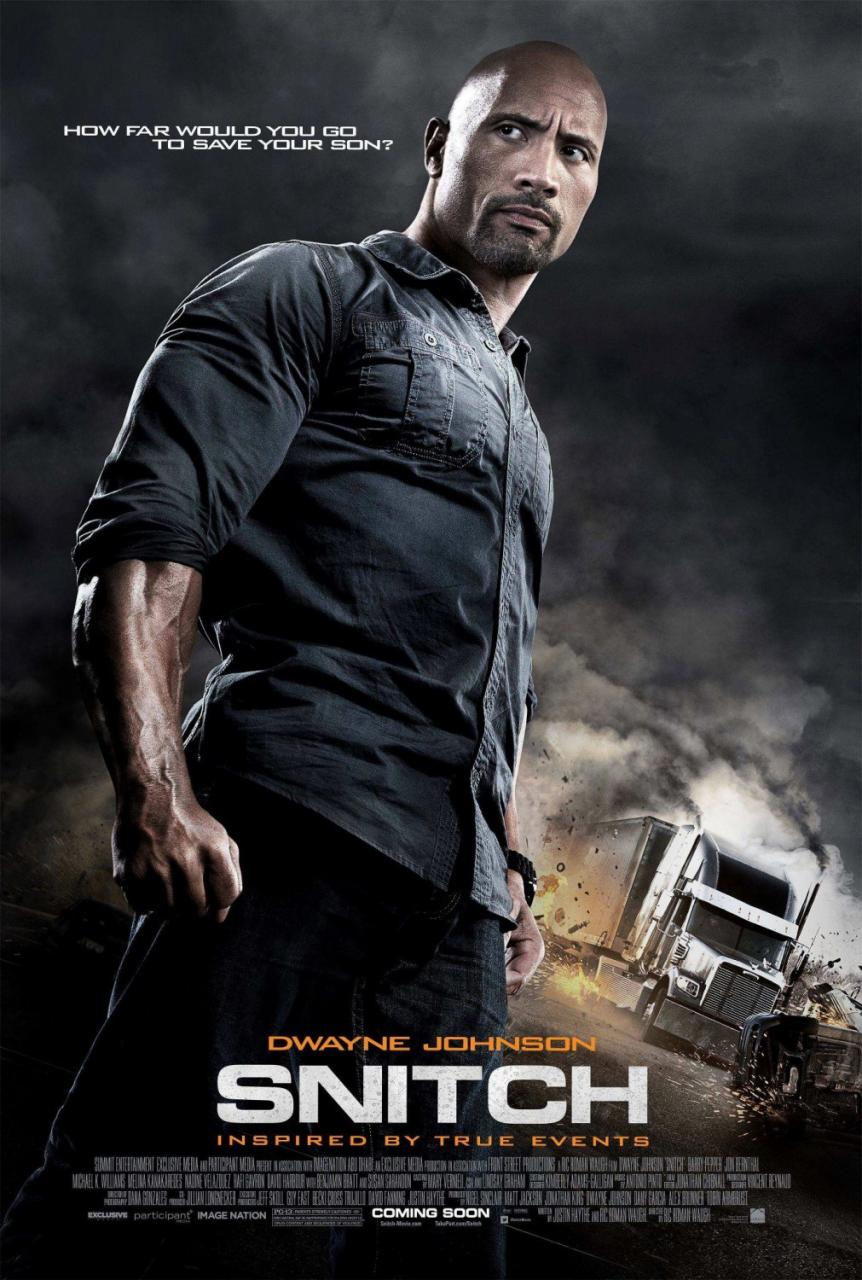 Dwayne Johnson Strikes Familiar Pose In First 'Snitch' Poster