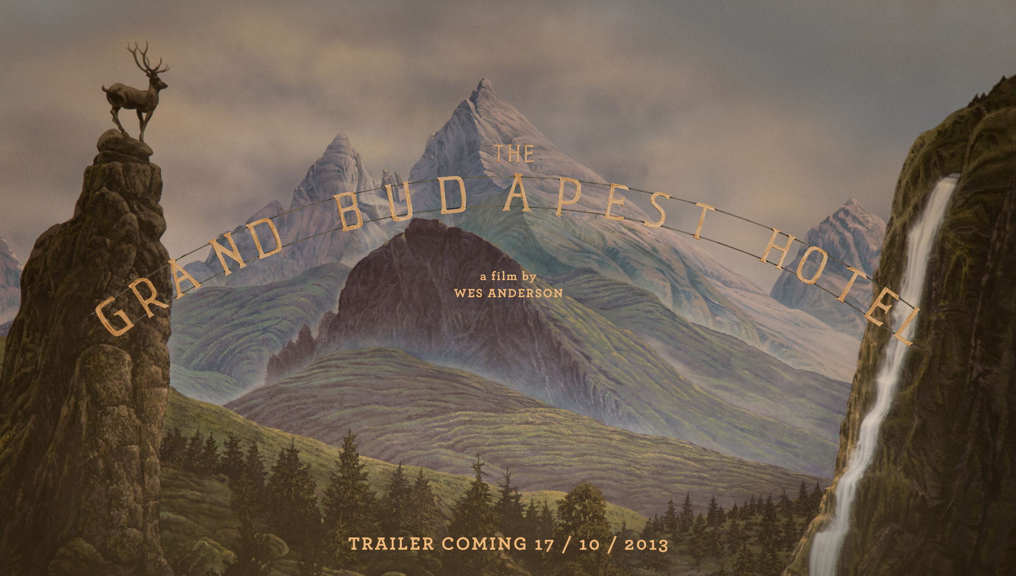 First poster for the grand budapest hotel advertises a for Hotel budapest