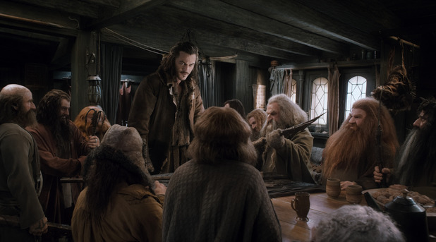 Bard brings the dwarves into Necromancer Hobbit Desolation Of Smaug