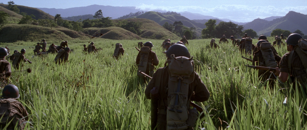 essay on the thin red line On terrence malick's the thin red line robert sinnerbrink macquarie university, sydney, australia in his 1979 foreword to the world viewed, stanley cavell remarks on the curious in a recent volume of essays on malick's work, for example.