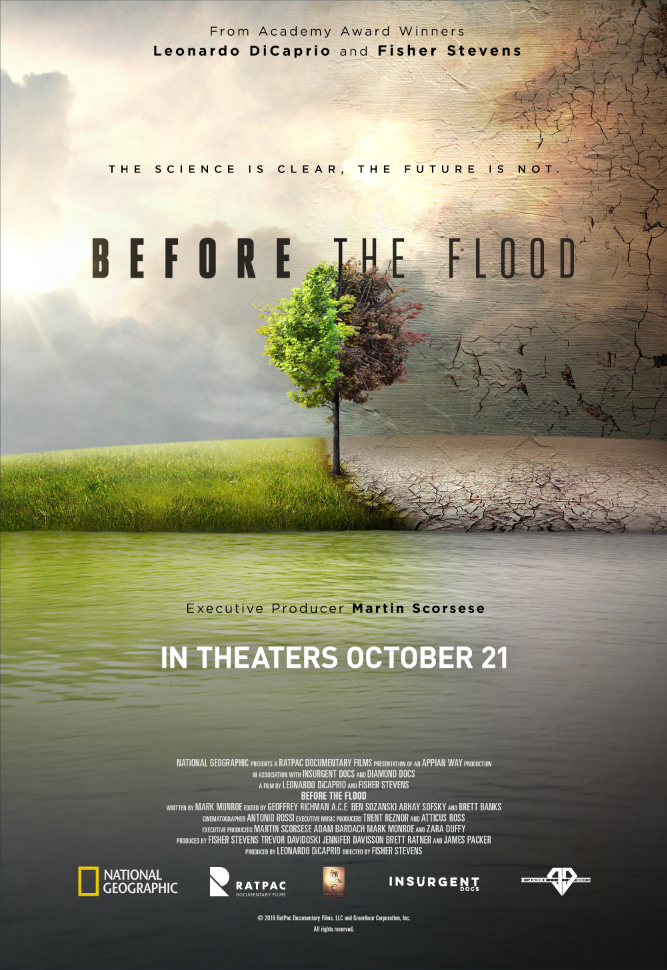 a review of before the flood a documentary by fisher stevens Dir fisher stevens us, 2016 96 mins  'before the flood': toronto review  before the flood isn't as entertaining, angry or cheekily provocative as a michael moore documentary might .