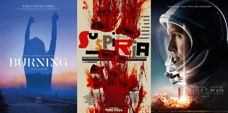 Posterized October 2018: 'Burning,' 'Suspiria,' 'First Man,' and More